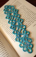 Tatted Bookmark by Charmed-Ravenclaw