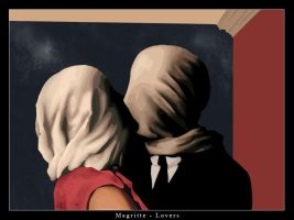 Lovers - Magritte by FictitiousSky