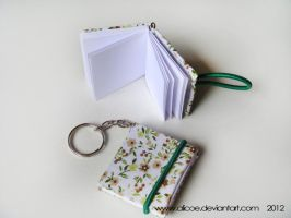 Mini Note Keychain Green 4cmX 3,5cm by alicoe