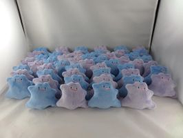 Tiny Ditto Plushies by makeshiftwings30