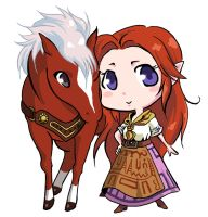 Malon and Epona by Heiliger by ElettraNoah