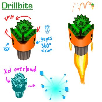 Drillbyte (Mighty Number 9: Enemy design phase 2!) by shadow-link