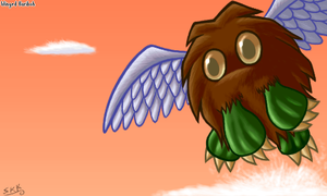 Winged Kuriboh by shadowkitsunekirby