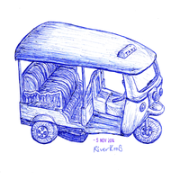 Toy car Tuk-tuk (Thailand Taxi) by RiverKpocc