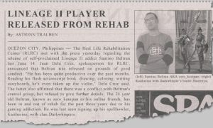 fake newspaper article by zk306