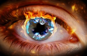 Into The Eye of an Artist by vexray