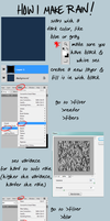 photoshop cs5 RAIN tutorial by lubrikated
