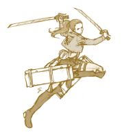 Sketches For February - Survey Corps Ginia by Sora-G-Silverwind