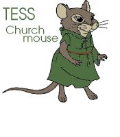 Tess Churchmouse from Redwall by GreenSkullplz