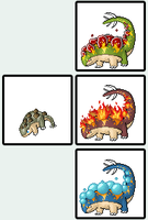 Pokemon Sprite Fake Stegos by shadixART