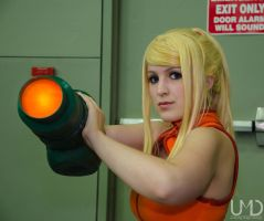 Samus Close Up by BleachcakeCosplay