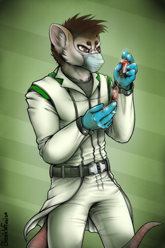 Virologist [Commission] by bioniclefusion