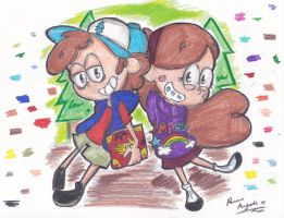 .:Gravity Falls:. by ImmaRainbowNinja