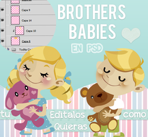 Brothers Babies PSD by SophiEdit