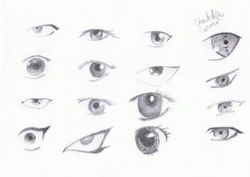 Random anime eyes by Chanytell