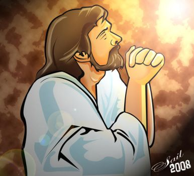 Jesus Christ Praying for you by sail91