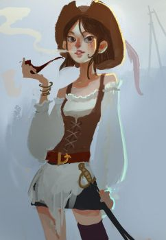 Pirate girl by r-pre