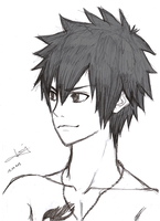 Fairy Tail: Grey :D by JenYeonGI