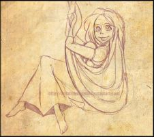 Tangled: Rapunzel sketch by Do0dlebugdebz