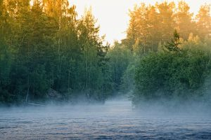Misty river by RobinHedberg