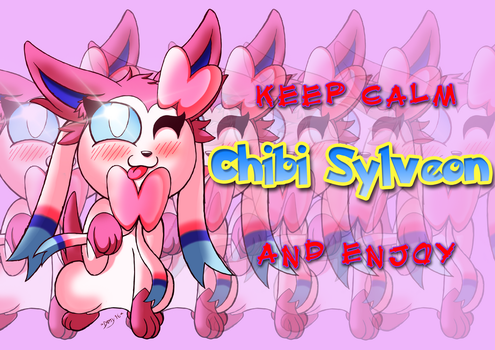 Chibi Sylveon (Poster Version) by DamyFoxyArt