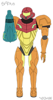 Samus - SSMB Avatar Commission by Yeow95