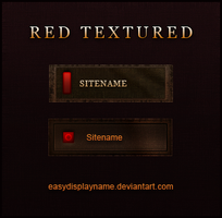 Red Textured by easydisplayname