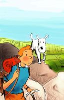 Tintin and Snowy by AgnesPterry
