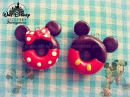 Mickey and Minnie Mouse doughnuts by A-Spark-Of-Light