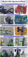 Aliens Doubles meme with Veera and Choy by Doodlee-a