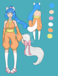 New OC: Aoi reference sheet by MissRiku