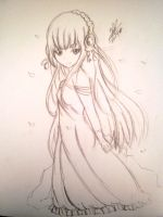 Maplestory - Goddess Aria (Made it in pencil) by OriChes