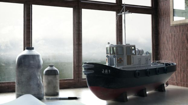 Tugboat by tschreurs