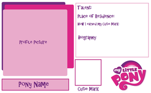 MLP Blank Fanpony Character Sheet (BLANK) by Midnyte-Wolff