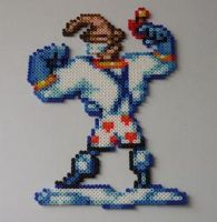 Earthworm Jim Bead Sprite by monochrome-GS