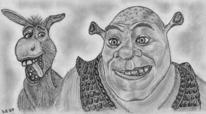 Shrek and Donkey by Bill-Con