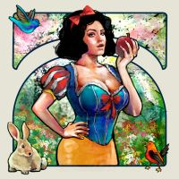 Snow White illustration. Spring. by le0arts