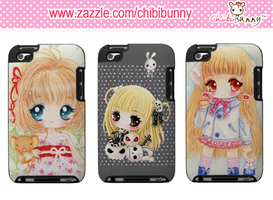 Anime chibi girls Ipod Touch cases by BunnyAndI
