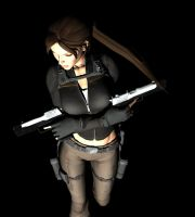 Lara with a touch of Blender by Rockeeterl