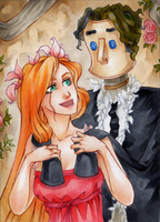 ACEO #80 Giselle by RoteGruetze