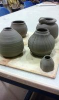 Thrown pots 19.12.14 by OKpotting