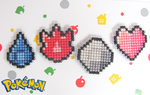 Pokemon Kanto Badges ~cross stitch~ by snowyMelon
