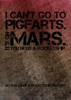 Pigfarts is on Mars. by amethystsmile870