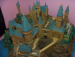 Hogwarts Castle Paper Model - High View by ana-wandmaker