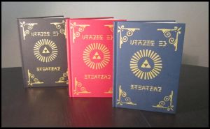 Zelda sketch books available in 3 colors !! by Miss-Zeldette