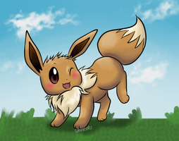 Eevee by Diggersby-Tho