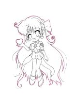 venus chibi lineart by angelbunny1391