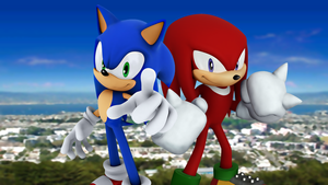 Fighting Buddies: Sonic and Knuckles by Light-Rock