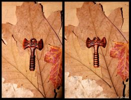 Double Axe Pendant by Hluthvik