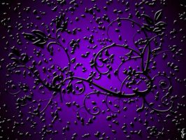 purple abstract by Claudisya
